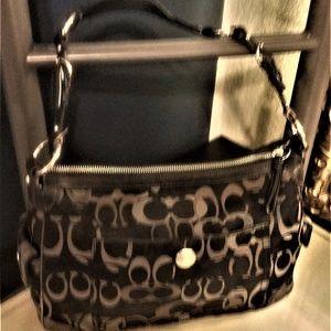 Authentic Coach Jacquard Purse/Shoulder Bag